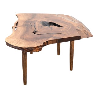 Early George Nakashima Coffee Table in English Walnut, 1958 For Sale
