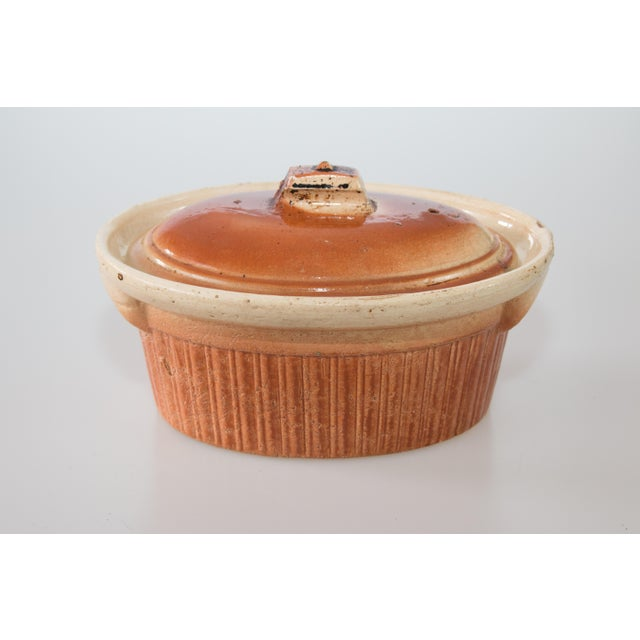 Orange Antique French Lidded Pate Terrine For Sale - Image 8 of 8