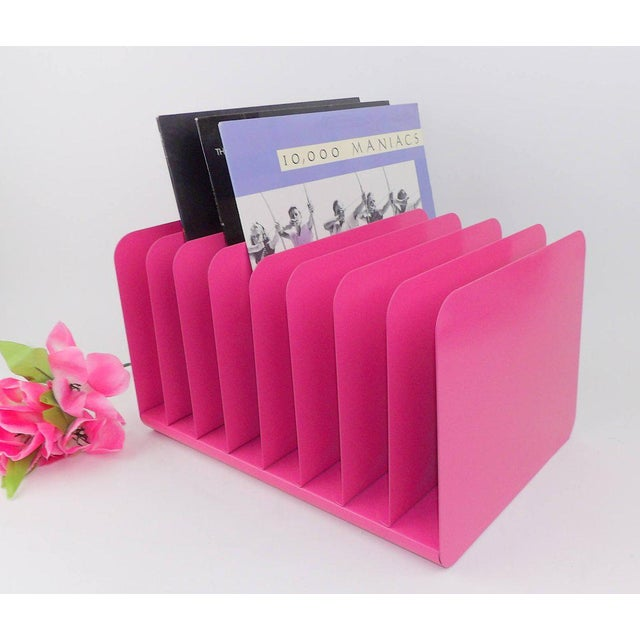 Mid 20th Century Pink Metal File Organizer For Sale - Image 5 of 8