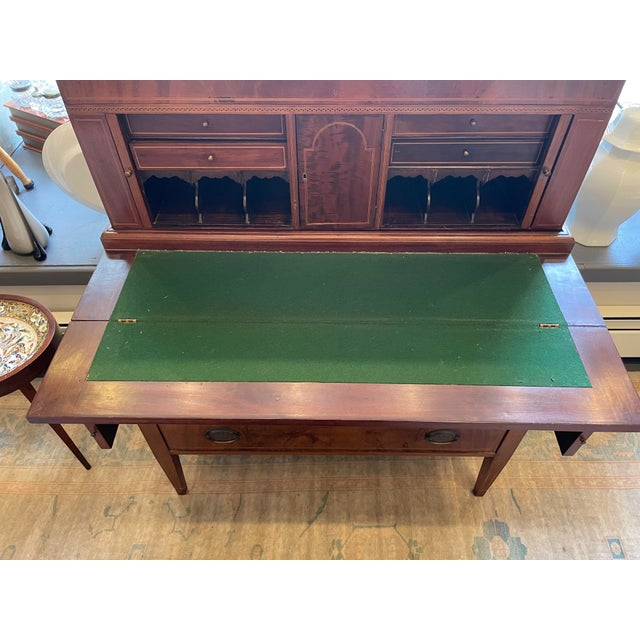 Brown 19th Century George Hepplewhite Tambour Desk For Sale - Image 8 of 13