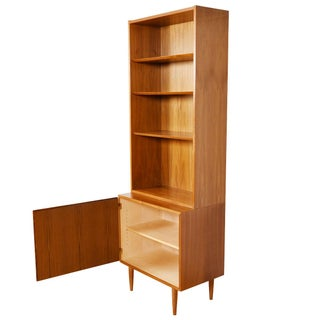 Danish Modern Locking Cabinet With Bookcase Top in Walnut Preview