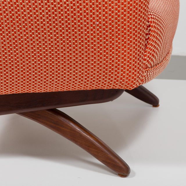 A Danish Leif Hansen attributed Upholstered Armchair 1950s For Sale - Image 9 of 9