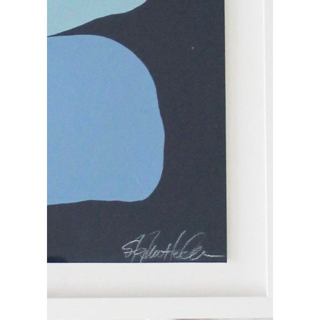 Contemporary Stephanie Henderson Cairn in Moody Blues Original Painting For Sale - Image 3 of 9