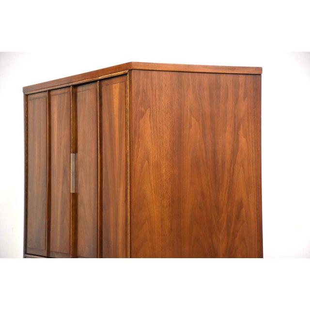 Brown Kent Coffey Impact Tall Walnut Mid Century Dresser For Sale - Image 8 of 11