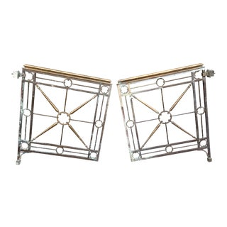 1950s Vintage Maison Jansen Style Hollywood Regency Gates- a Pair For Sale