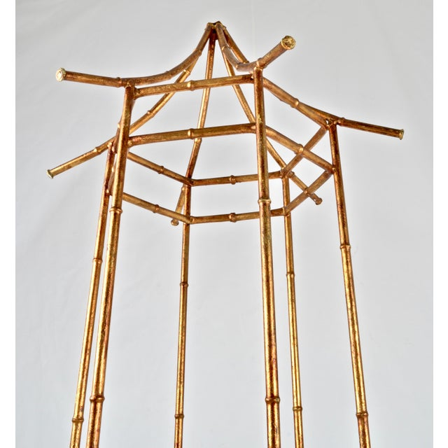 Chinoiserie Pagoda Form Etagere, Parcel Gilded For Sale - Image 3 of 10
