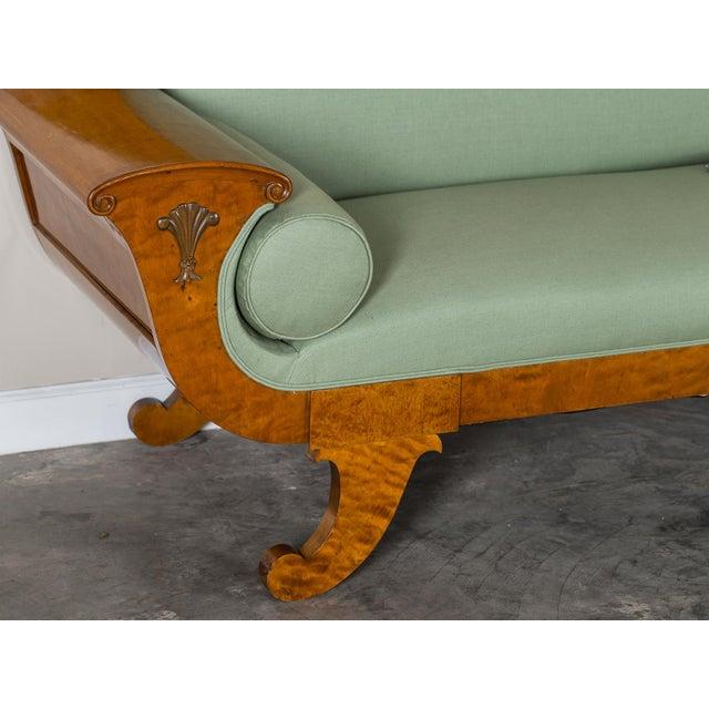 Biedermeier 1920s Swedish Grace Biedermeier Satinwood Sofa For Sale - Image 3 of 11