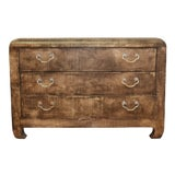 Image of Vintage Raffia Chest of Drawers in the Style of Karl Springer For Sale