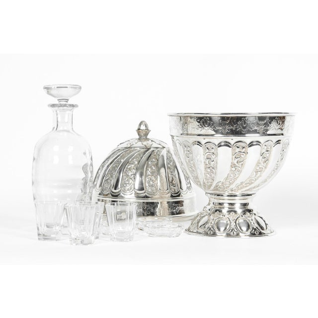 Sheffield Silver Plated Egg Shape Liquor Cave - 7 Pc. Set For Sale - Image 10 of 13