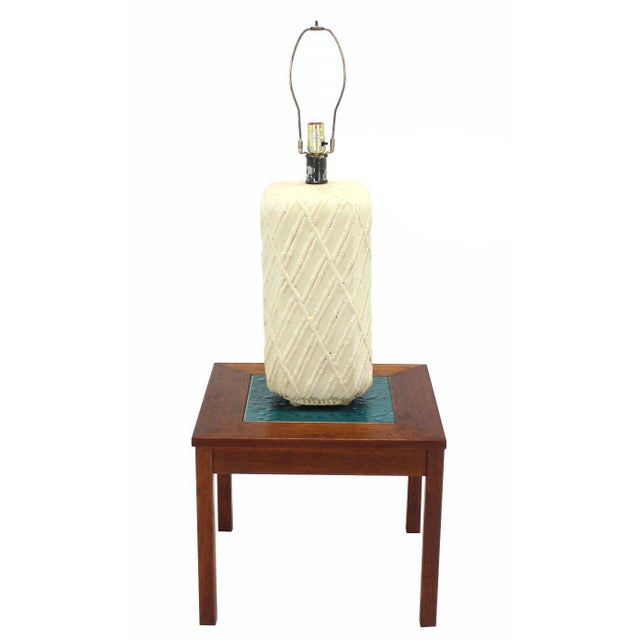 Faux Bamboo Decorated Pattern Table Lamp For Sale - Image 9 of 9