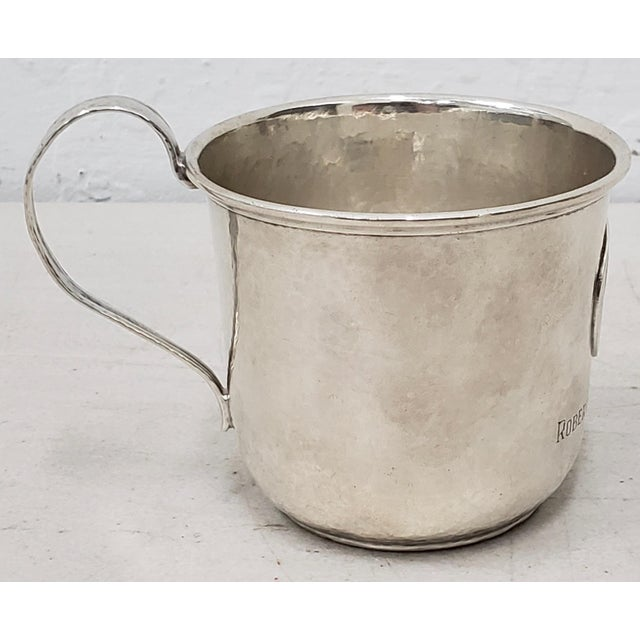 Traditional Late 19th Century Hand Hammered Shreve & Co. Christening Cup C.1890s For Sale - Image 3 of 8