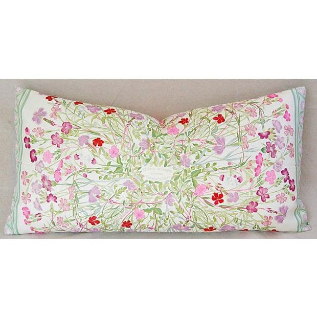 Cottage Niki Goulandris Hermes French Floral Silk Pillow For Sale - Image 3 of 8