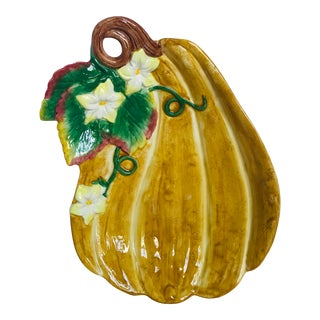 Late 20th Century Fitz & Floyd Gourd Dish For Sale