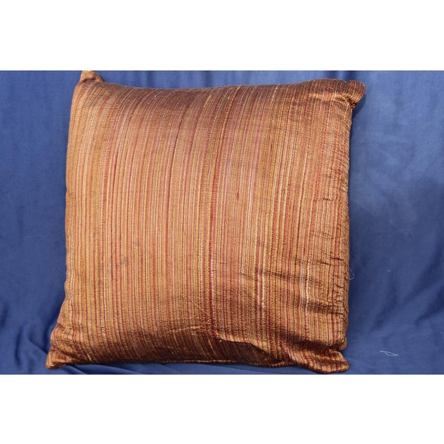 Mid 20th Century Mid 20th C. Possible Art Deco to Mid Century Silk Pillow For Sale - Image 5 of 5