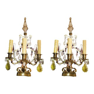 19th Century French Girandoles - a Pair For Sale