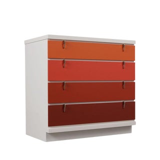 Mid-Century Modern Style Lacquered Chest of Drawers For Sale