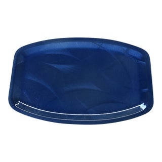 Cathrineholm Cobalt Blue Cathedral Rectangular Service Tray For Sale