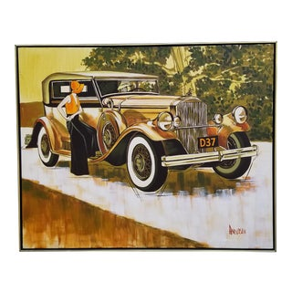 1970s Vintage Anderson Car Painting For Sale