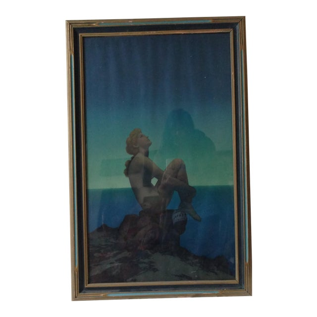 """Maxfield Parrish Framed Original Lithograph """"Stars"""", 1920's For Sale"""