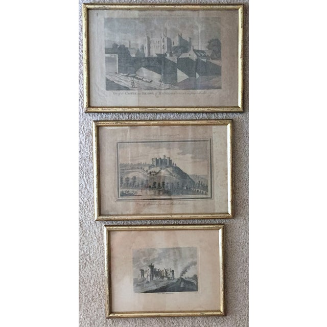 Antique Welsh Castles Engravings - Set of 3 - Image 2 of 7