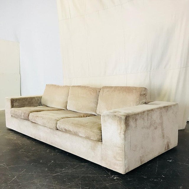 Modern clean line sofa by Cisco Brothers. Sofa is in good vintage condition but we recommended new upholstery. dimensions:...