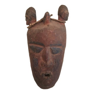 Early African Ceremonial Carved Mask For Sale