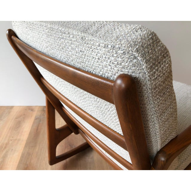 Wood Newly-Upholstered MCM Rocker - Ole Wanscher for France & Daverkosen For Sale - Image 7 of 13