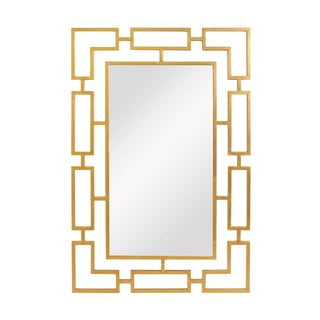 Gold Leaf Transitional Wall Mirror For Sale