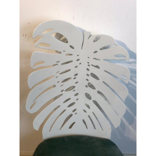 Six 1970s Wrought Iron Palmette Chairs, Restored For Sale - Image 9 of 10