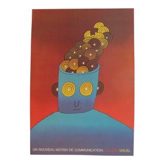 Original French Poster, Jean Michel Folon, Communication