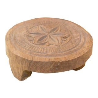 Nalin Nepalese Carved Lotus Chakla Stand For Sale
