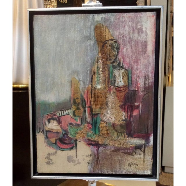 Signed Mixed-Media Abstract Painting - Image 2 of 7