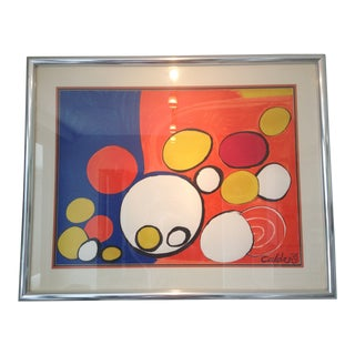 Large Abstract Signed & Numbered Lithograph Print by Calder For Sale