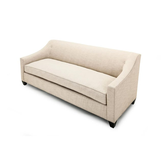 Clad Home Custom Ivory Linen Sofa - Image 4 of 6