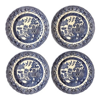 "Vintage ""Blue Willow"" Small Plates- Set of 4 For Sale"