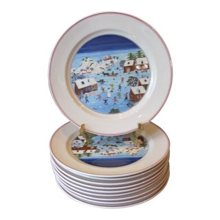 Villeroy & Boch Christmas Dinner Plates - Set of 10 For Sale