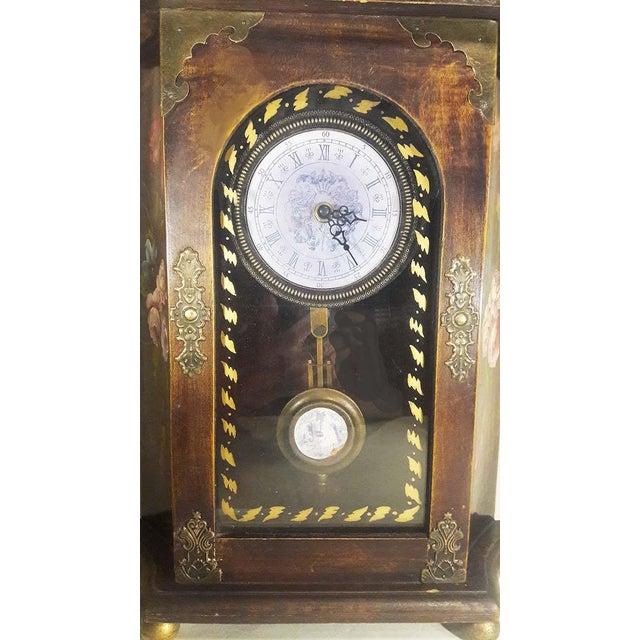 Vintage Mantel Pendulum Clock - Image 5 of 7