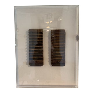 Antique Cigar Moulds in Acrylic Shadow Box Frame For Sale