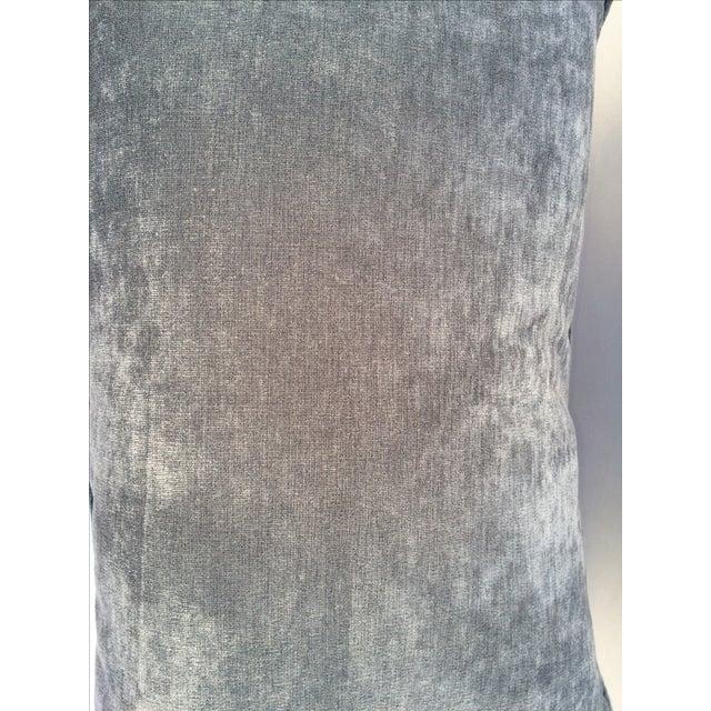 Velvet Cape Cod Blue Pillows - a Pair - Image 5 of 8