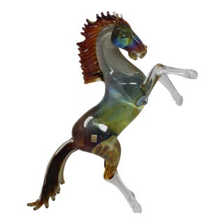 Glass Horse From Murano For Sale