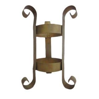 Vintage French Regency Wrought Iron Umbrella Stand For Sale