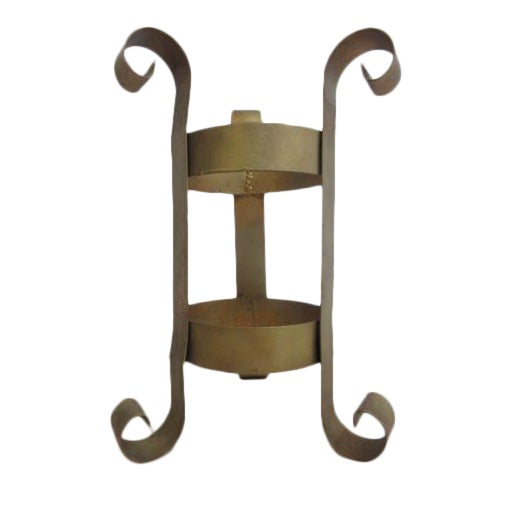 Vintage French Regency Wrought Iron Umbrella Stand Chairish