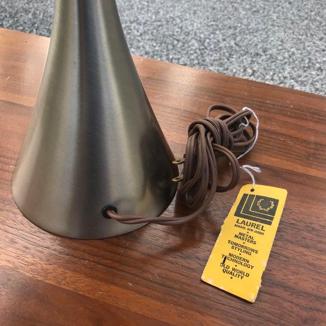 Laurel Lamp Company Laurel Mushroom Lamp in Satin Chrome For Sale - Image 4 of 13
