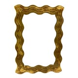 Image of 1980s David Marshall Èglomisè Gold Leaf Wave/Wavy Mirror For Sale