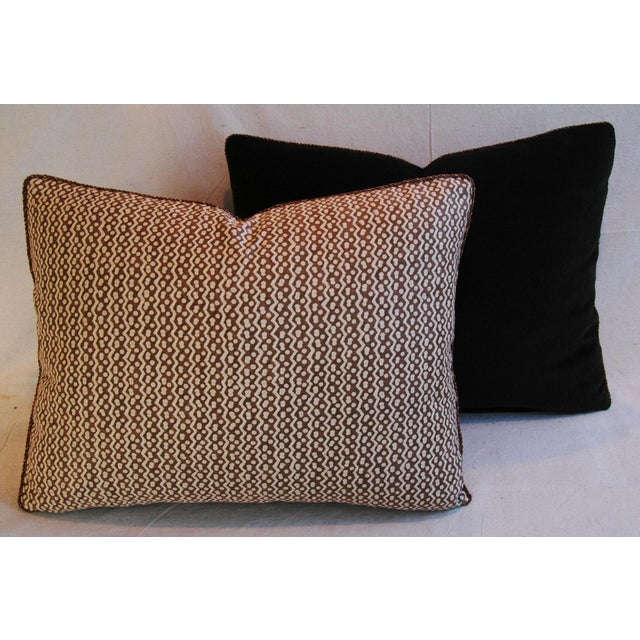 Italian Mariano Fortuny Tapa Feather & Down Pillows - A Pair - Image 9 of 10