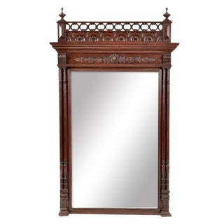 19th Century Henry II Style French Beveled Mirror For Sale