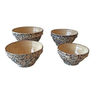 Antique Spongeware Nesting Bowls - Set 0f 4 For Sale