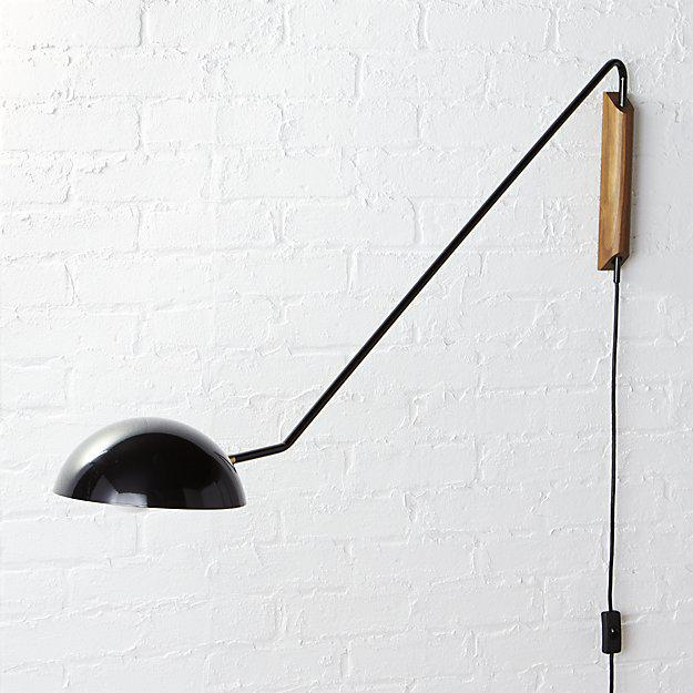 CB2 Large Swing Arm Mantis Wall Sconce - Image 2 of 7