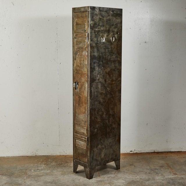 Industrial German Industrial Metal Lockers, circa 1940 - A Pair For Sale - Image 3 of 10