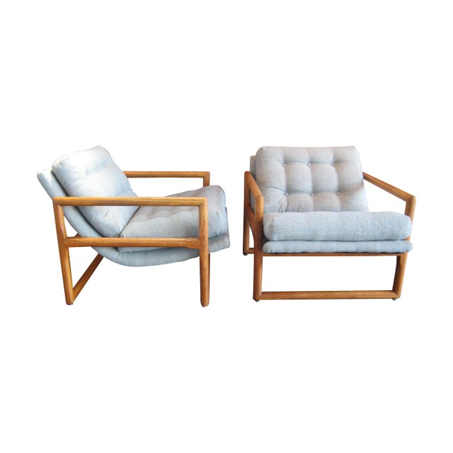 Milo Baughman Attributed Easy Chairs - A Pair For Sale